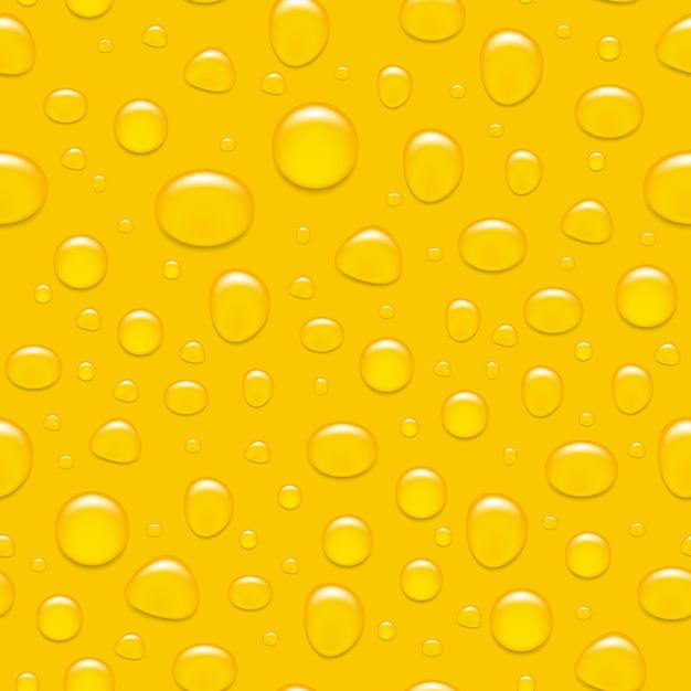 Waterdruppels op glas. zoals een biertje. naadloze backgroind. Premium Vector