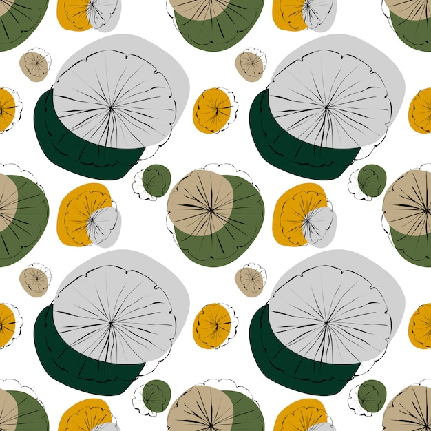 Waterlelie naadloos patroon Premium Vector