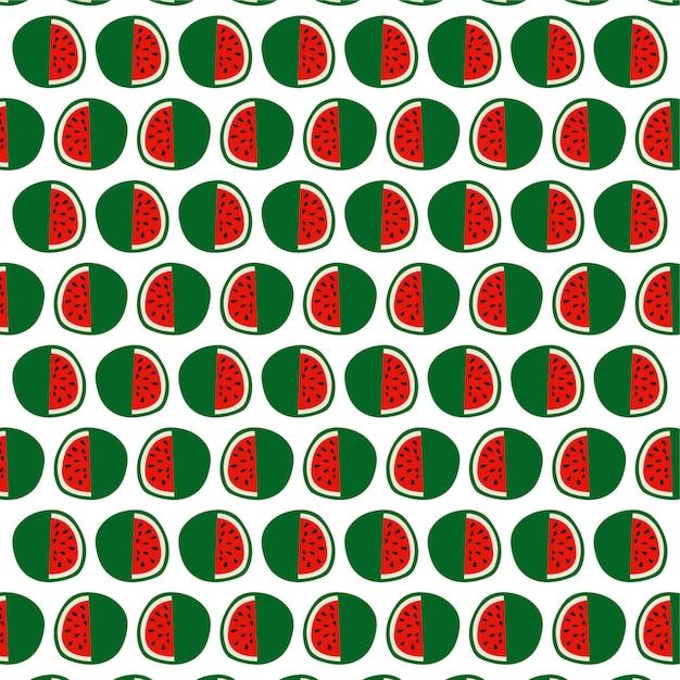 Watermeloen met achtergrond van het zaden de naadloze patroon Premium Vector
