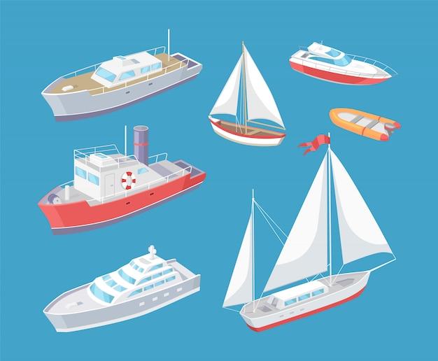 Watertransport reizend schip voyage vector Premium Vector
