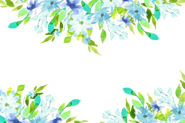 Waterverf kleurrijk bloemenontwerp als achtergrond Gratis Vector