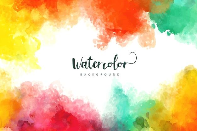 Waterverfachtergrond met kleurrijke vlekken Gratis Vector