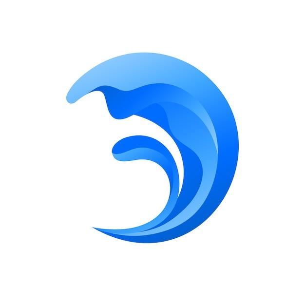 Wave abstract logo Premium Vector