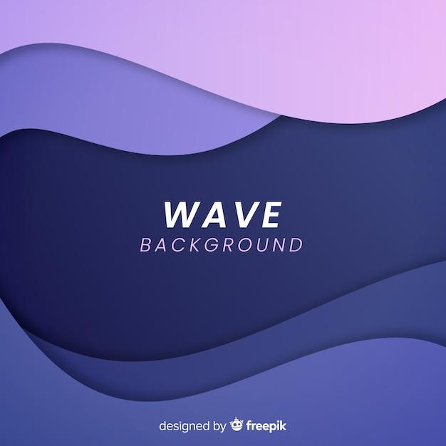Wave achtergrond Gratis Vector