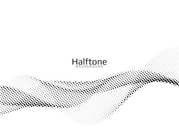 Wave stijl halftone ontwerp achtergrond vector Gratis Vector