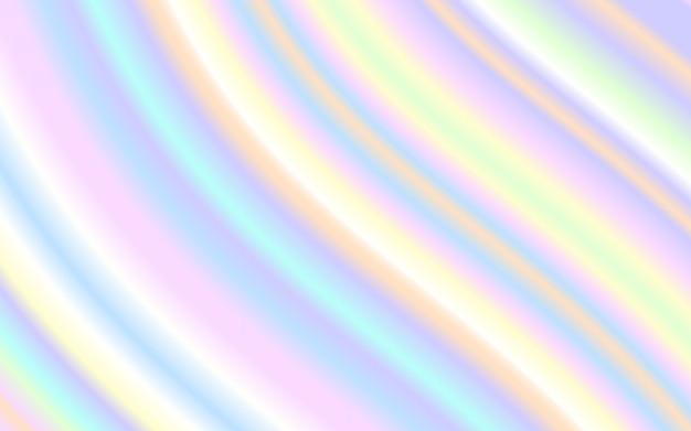 Wave vloeibare vorm pastel regenboog kleur achtergrond Premium Vector