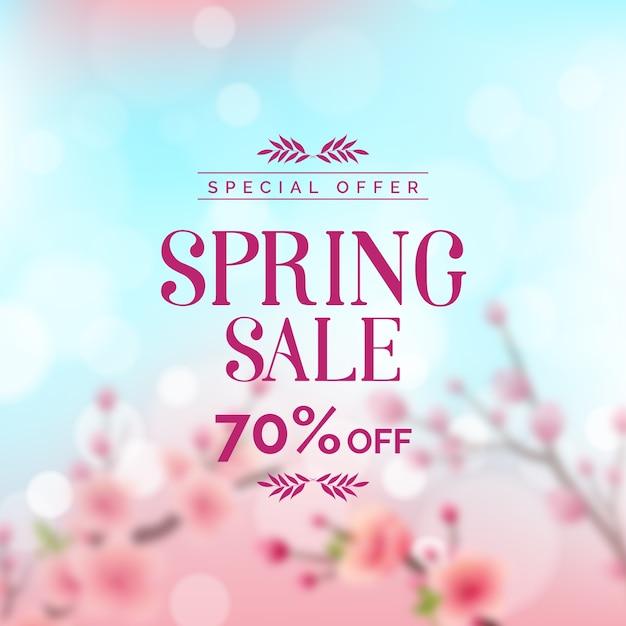 Wazig concept voor promotionele lente verkoop Gratis Vector