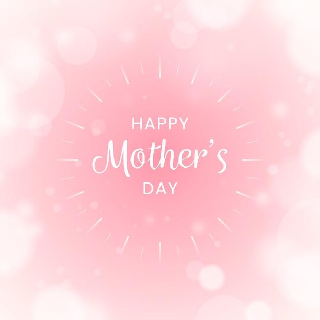Wazig gelukkige moederdag Gratis Vector