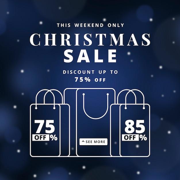 Wazig kerstmis verkoop concept Gratis Vector
