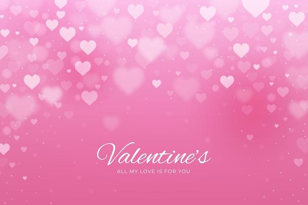 Wazig valentijnsdag achtergrond Premium Vector