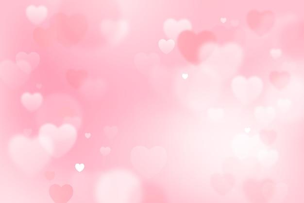 Wazig valentijnsdag behang Gratis Vector