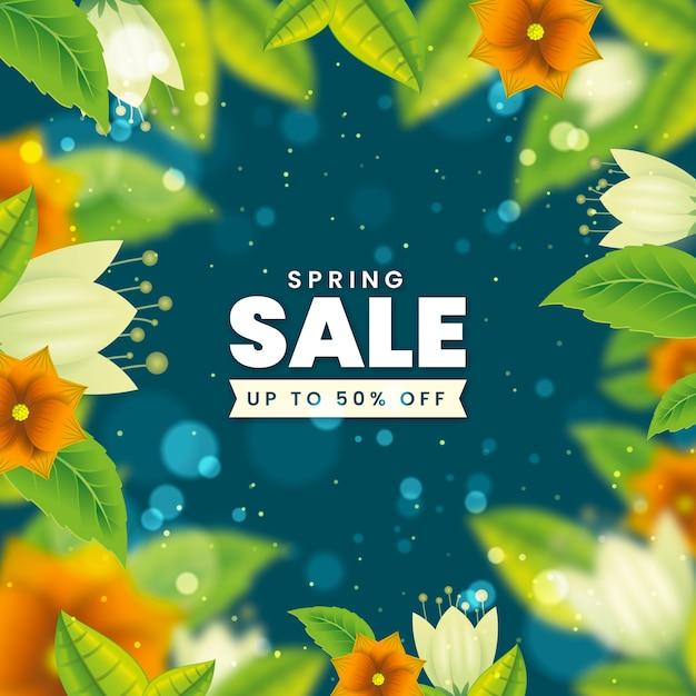 Wazig voorjaar promotionele verkoop Gratis Vector
