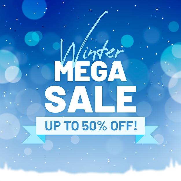 Wazig winter verkoop banner concept Gratis Vector
