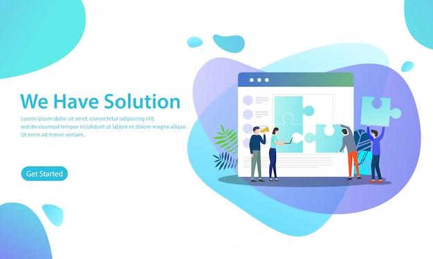 We hebben oplossing vector illustratie concept Premium Vector