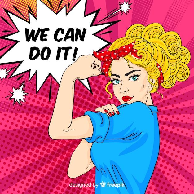 We kunnen het! achtergrond Gratis Vector