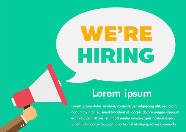 We zoeken werk vinden Premium Vector