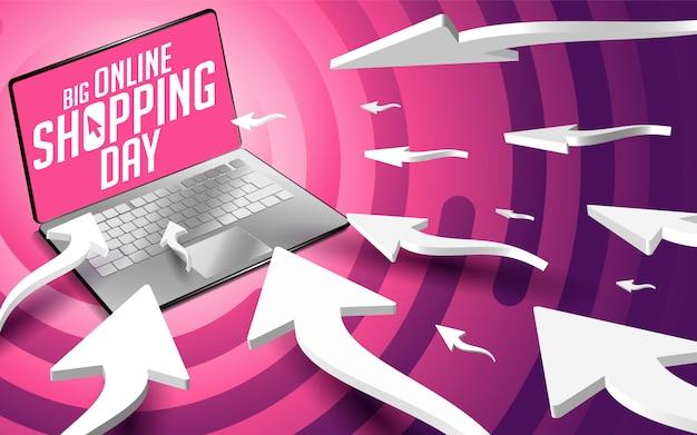 Web cursor pijlen verplaatsen naar de laptop Premium Vector