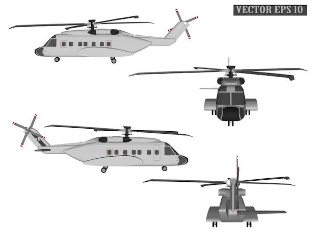 Web vector helikopter voor soldaten Premium Vector