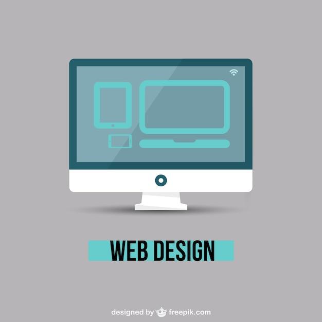 Webdesign minimale vector Gratis Vector