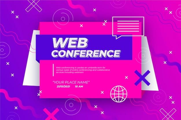 Webinar banner uitnodiging Gratis Vector