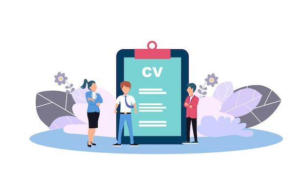 Webpaginasjabloon voor human resources Premium Vector