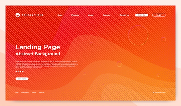 Website bestemmingspagina achtergrond Premium Vector