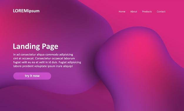 Website-bestemmingspagina met een abstract ontwerp Gratis Vector