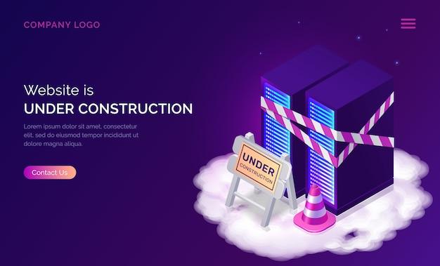 Website in aanbouw, onderhoudsfout Gratis Vector