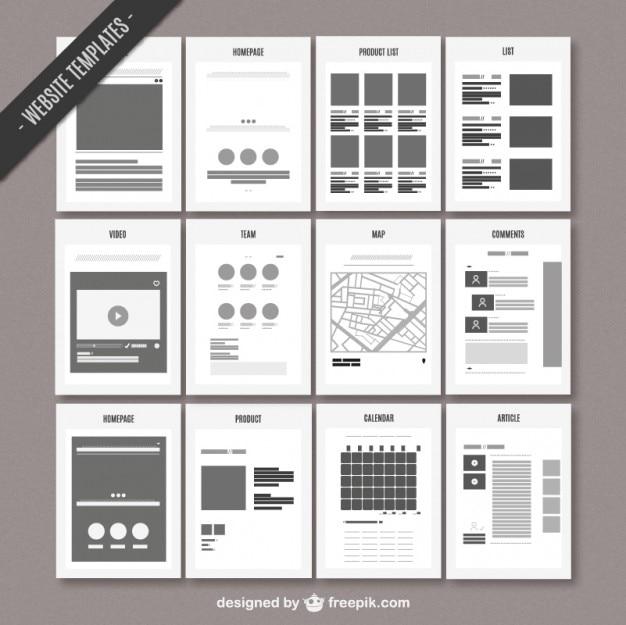 Website kaart template Gratis Vector