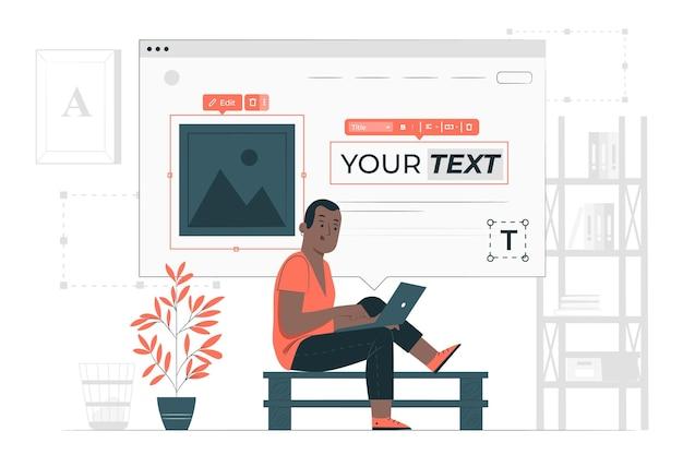 Website maker concept illustratie Gratis Vector