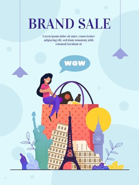 Website merk verkoop online winkel, landingspagina Premium Vector