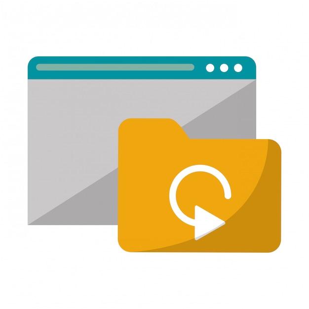 Website met maptechnologie Premium Vector