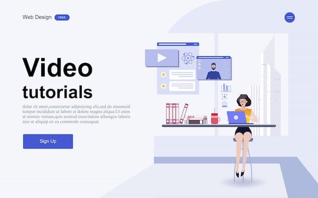 Website template online onderwijs, training en cursussen. Premium Vector