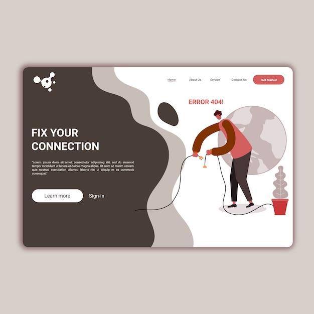 Websitesjabloon voor website of apps Premium Vector