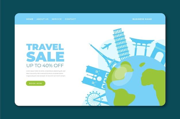 Websjabloon bestemmingspagina voor reisverkoop Gratis Vector