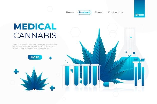 Websjabloon voor medicinale cannabis Gratis Vector