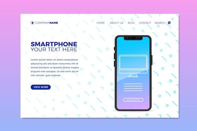 Websjabloon voor zaken met telefoon Gratis Vector