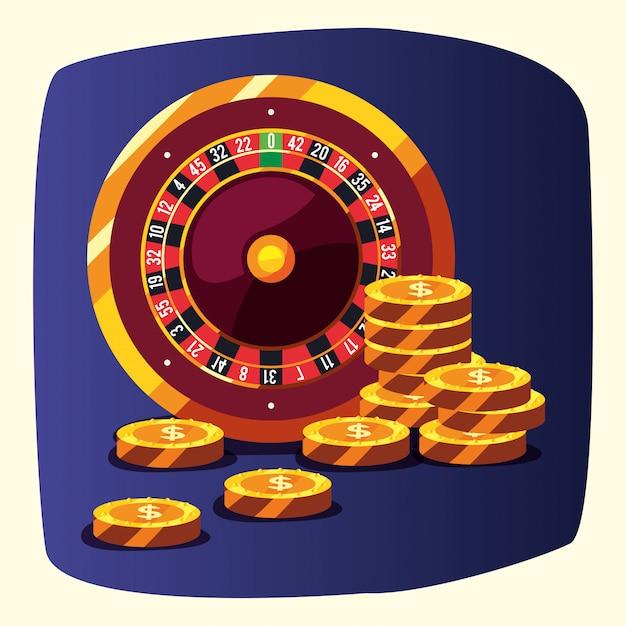Weddenschappen op casinogames Premium Vector