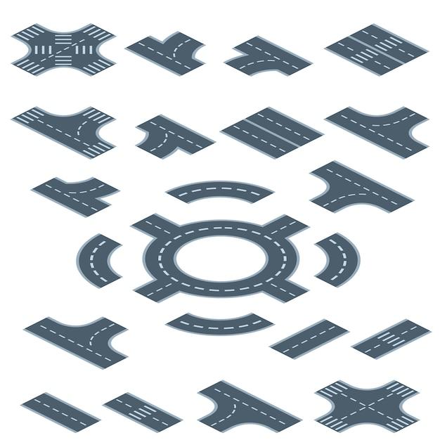 Wegmarkering constructor illustratie Gratis Vector