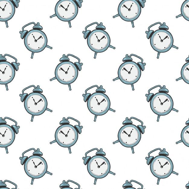 Wekker, analoge horloges. Premium Vector