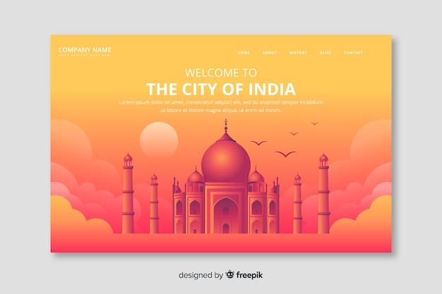Welkom bij de landingspagina van india Gratis Vector