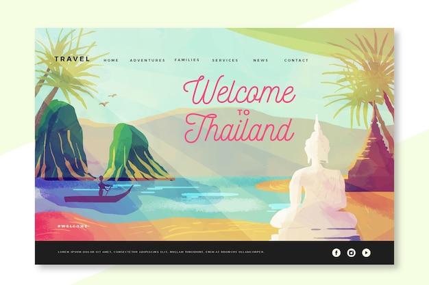 Welkom op de bestemmingspagina van thailand Gratis Vector