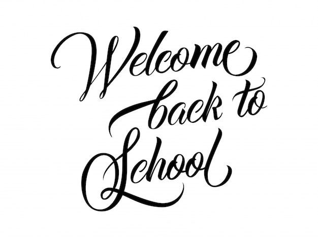 Welkom terug naar school lettering vector gratis download for Back to home pics