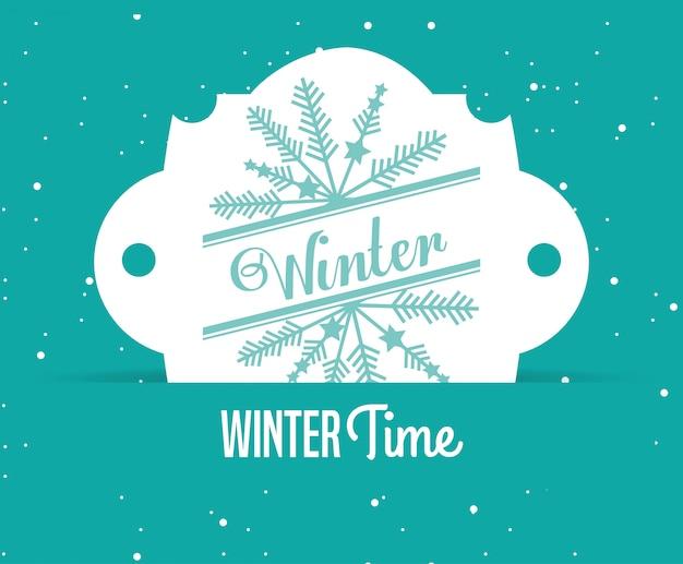 Welkom winter ontwerp Premium Vector