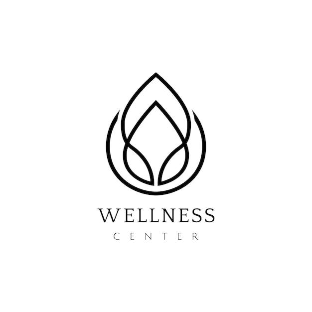 Wellness-centrum ontwerp logo vector Gratis Vector