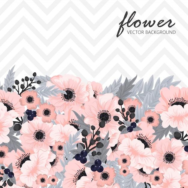 Wenskaart met bloemen Premium Vector
