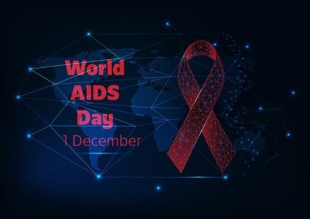 Wereld aids dag Premium Vector