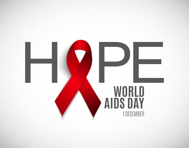 Wereld aidsdag achtergrond Premium Vector