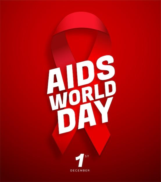 Wereld aidsdag poster Premium Vector