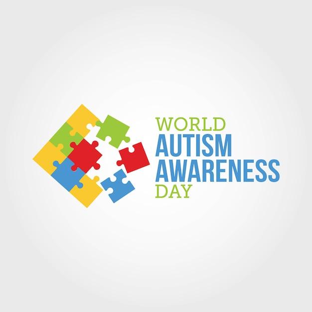 Wereld autisme awareness day Premium Vector